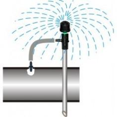 Emiter patykowy prosty na czwórniku z kroplownikem z kompensacją ciśnienia 8 l/h IP - rozkręcany